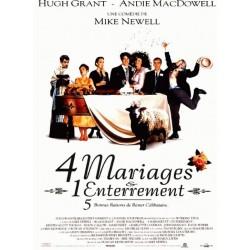 Affiche 4 mariages et un...